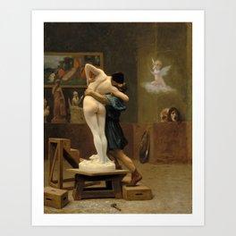 Jean-Leon Gerome - Pygmalion And Galatea - Digital Remastered Edition Art Print