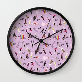 Violet: Looks All Over Wall Clock