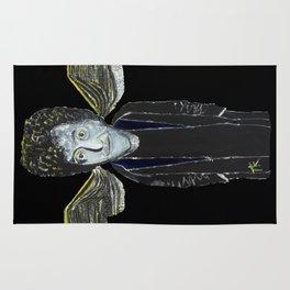 Kurt Vonnegut Jr Oil Painting by Tony King  Rug