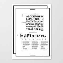 Helvética . (Spanish) Canvas Print