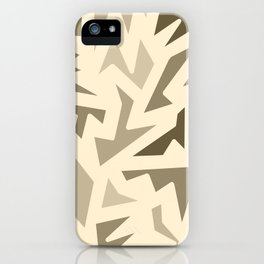 SEPIA JIG JAG iPhone Case