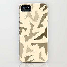 SEPIA JIG JAG iPhone Case