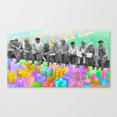 Lunch atop a Pop NY Canvas Print