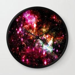 Tarantula Nebula Astral Fireworks Wall Clock