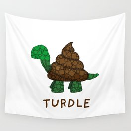 Turdle - Poop - Turtle - 57 Montgomery Art Wall Tapestry
