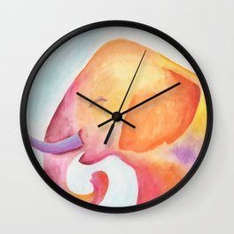 Cheerful Elephant v.1 Wall Clock