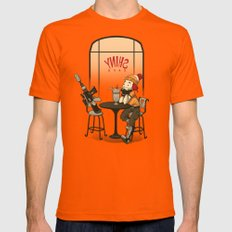 Date Night Orange Mens Fitted Tee MEDIUM