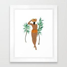 Fruit Basket Gal Framed Art Print