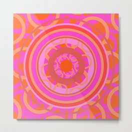 Mandala geometria en movimiento Glojag Metal Print