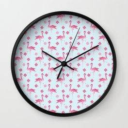 Origami Flamingo Wall Clock