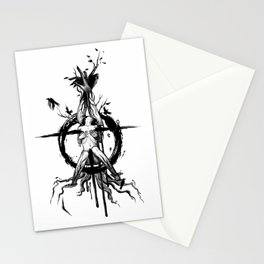 Black Spring Stationery Cards