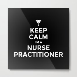 Nurse Practitioner, NP, NP heart Metal Print