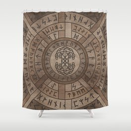 Web of Wyrd The Matrix of Fate and Tree of life Shower Curtain
