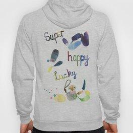 No. 635-G- Single Super Happy Lucky. Hoody