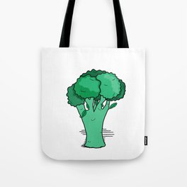 Funky Broccoli Tote Bag