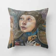 IMAGINARY ASTRONAUT Throw Pillow