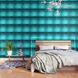 Turquoise Ombre Stars Wallpaper
