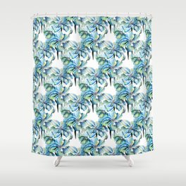 Watercolor Himalayan Blue Poppies Shower Curtain
