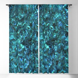 Abalone Shell | Paua Shell | Sea Shells | Patterns in Nature | Cyan Blue Tint | Blackout Curtain