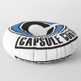 Capsule corp dragon ball trunks bulma logo super saiyan Floor Pillow