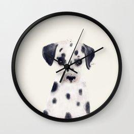 little dalmatian Wall Clock