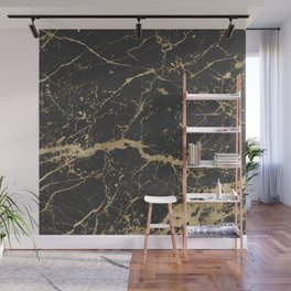 Marble Black Gold - Whistle Wall Mural