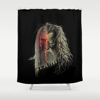 lotr Shower Curtains featuring Evil Border by RicoMambo