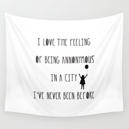 Annonymous Wall Tapestry