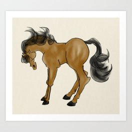 modern horse Art Print