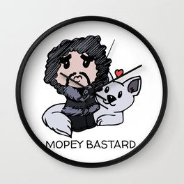 Mopey Bastard Wall Clock