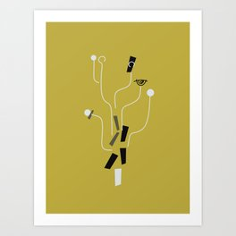 Clueless Bramble [Gold] Art Print