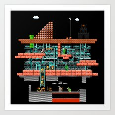 lord of mario turtles  Art Print