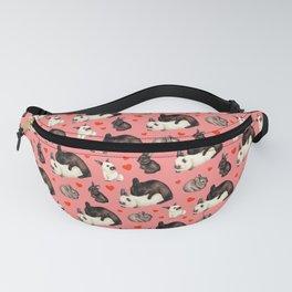 Valentine Rabbits Multiply Pattern - Pink Fanny Pack