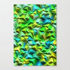 Green broken and blue tiles Canvas Print