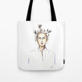 Asian girl Tote Bag