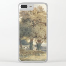 Alexandre Calame 1810 - 1864 TREES, ROADS AND CHARACTERS 1834 TREES, TRACKS AND FIGURES 1834 Clear iPhone Case