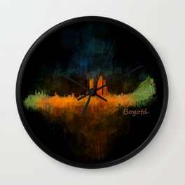 Bogota City Skyline Hq V4 Wall Clock