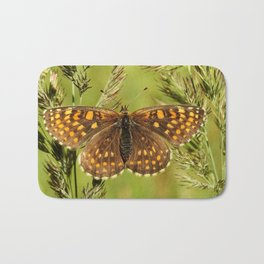 Beautiful close up of a colourful moth Bath Mat