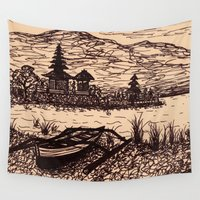 bali Wall Tapestries featuring Bali Boating by Erica Putis