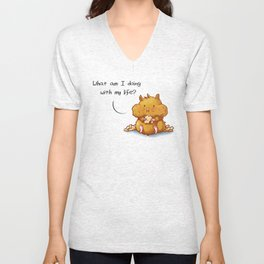 What Am I Doing With My Life? Unisex V-Neck
