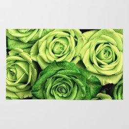 Green Roses Rug