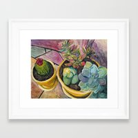 cacti Framed Art Prints featuring Cacti by Emily Kenney