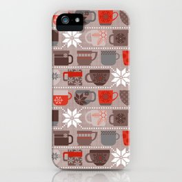 Snow Day Mugs - Chocolate iPhone Case