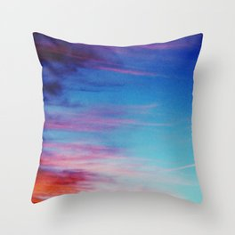 Colorful Sunset Clouds Throw Pillow