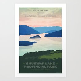 Shuswap Lake Provincial Park Art Print