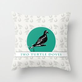 Two Turtle Doves Throw Pillow
