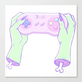 Zombie Gamer Girl Canvas Print