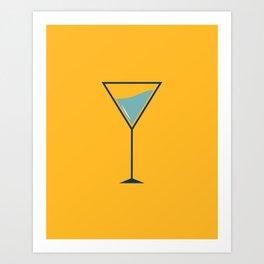 Yellow cocktail Art Print