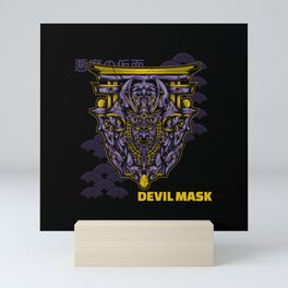 Dark Japanese Devil Mask Mini Art Print