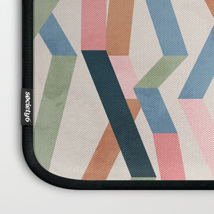 Straight Geometry Ribbons 1 Laptop Sleeve
